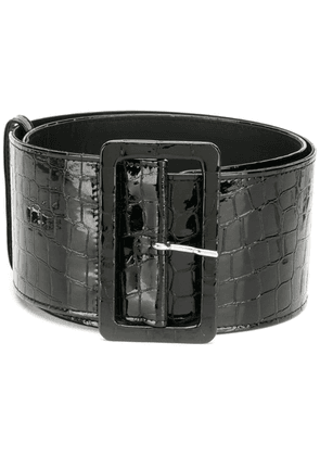 Attico crocodile effect belt - Black