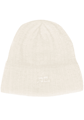 Courrèges ribbed beanie - Neutrals