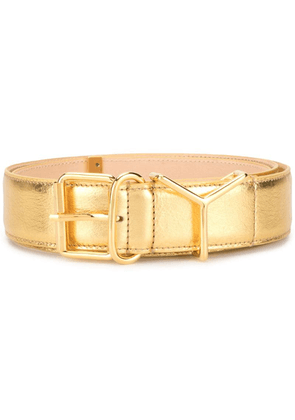 Y/Project metallic gold leather belt
