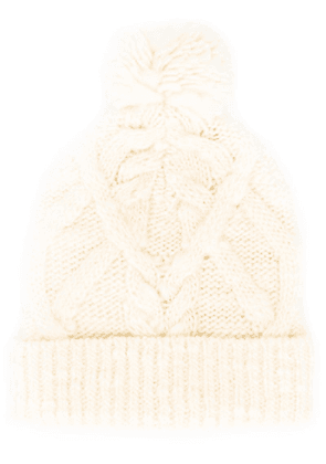Isabel Marant Ryam cable-knit beanie - Neutrals