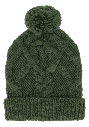 Isabel Marant Ryam cable-knit beanie - Green