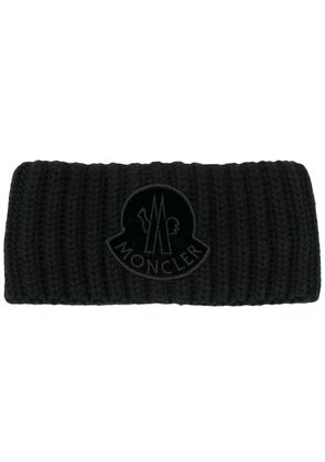 Moncler cable knit head band - Black