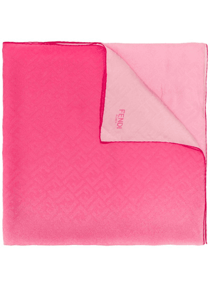 Fendi FF print two-toned scarf - Pink