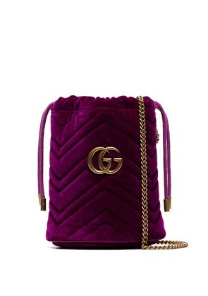 Gucci mini GG Marmont bucket bag - Purple