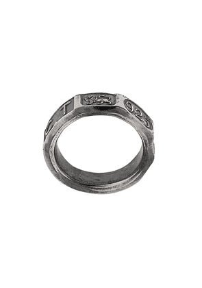 Chin Teo Hallmark ring - Metallic