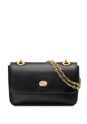 Gucci gold tone logo bag - Black