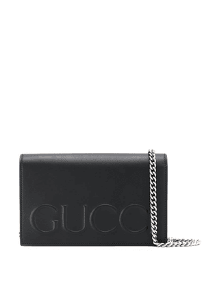 Gucci logo cross body bag - Black