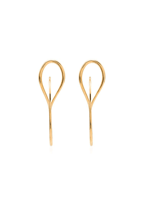 Charlotte Chesnais Vermeil needle hoop earrings - Gold
