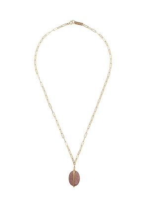 Isabel Marant pendant rectangle chain necklace - Gold