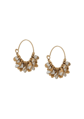 Isabel Marant charm detail hoop earrings - Gold