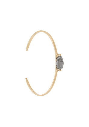 Isabel Marant central stone bangle - Gold