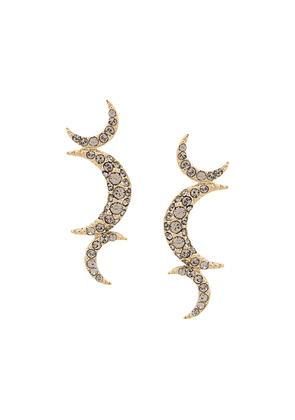 Isabel Marant embellished triple crescent earrings - Gold
