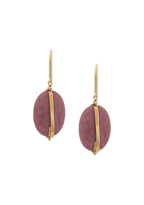 Isabel Marant drop stone earrings - Pink