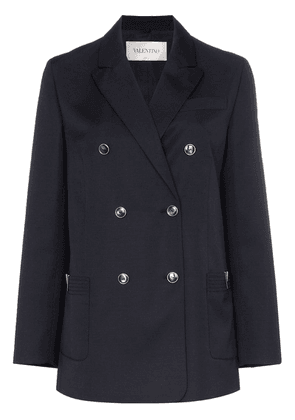 Valentino Double-breasted wool jacket - Blue