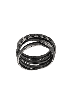 Chin Teo layered embellished ring - Metallic