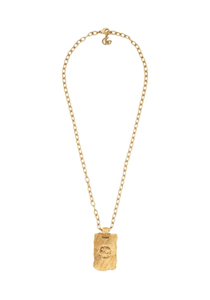 Gucci textured pendant necklace - Gold