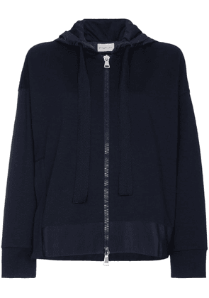 Moncler Logo hoodie with slit - Blue