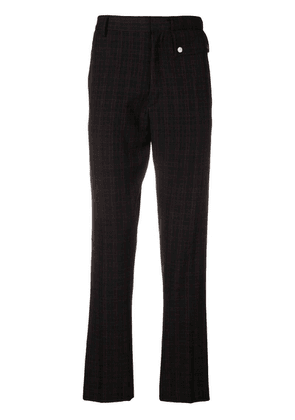 Cmmn Swdn plaid trousers - Black