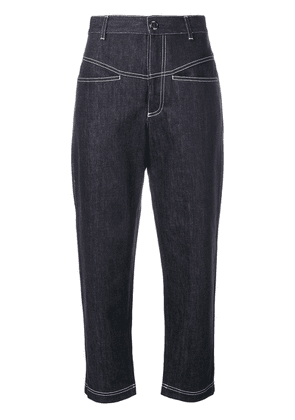 Fendi cropped tapered jeans - Blue