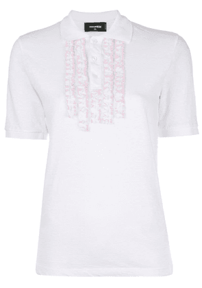 Dsquared2 polo shirt with frill embellishments - White