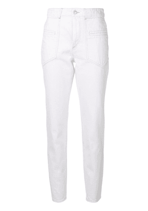 Isabel Marant high-waist fitted trousers - White