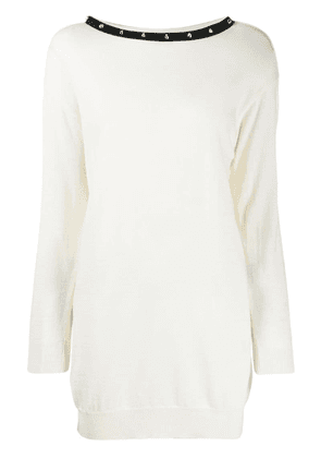 Boutique Moschino knitted shift dress - White