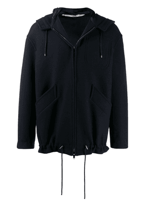 Valentino zipped hooded jacket - Blue