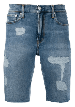 Calvin Klein Jeans regular distressed shorts - Blue