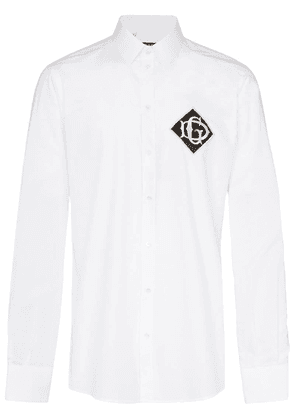 Dolce & Gabbana DG logo patch shirt - White