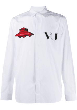 Valentino embroidered patch shirt - White