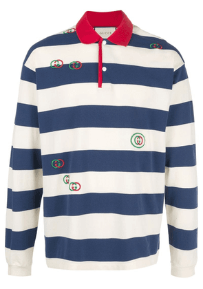 Gucci striped rugby shirt - White