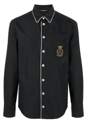 Dolce & Gabbana logo patch shirt - Black