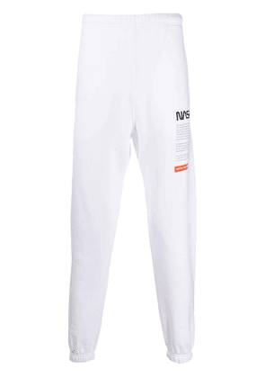 Heron Preston NASA print track pants - White