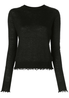 Co distressed trim jumper - Black