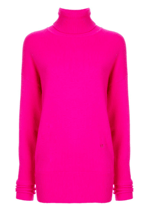 Victoria Beckham knitted turtleneck jumper - Pink