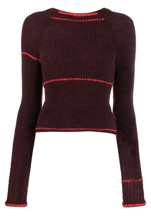 Eckhaus Latta ribbed knit jumper - Red