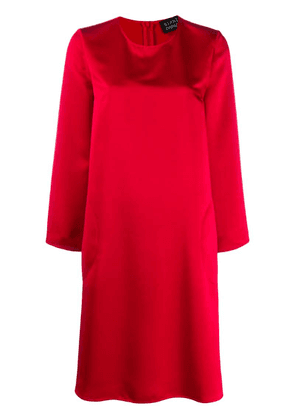 Gianluca Capannolo long sleeved shift dress - Red