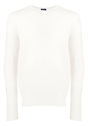 Drumohr long-sleeve fitted sweater - White