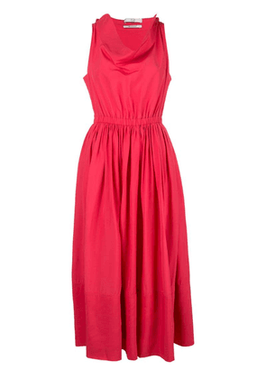 Co flared midi dress - Pink