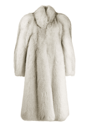 Attico oversized mid-length coat - White