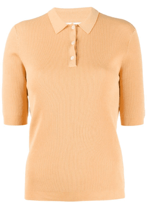 Norse Projects fitted ribbed polo shirt - Yellow