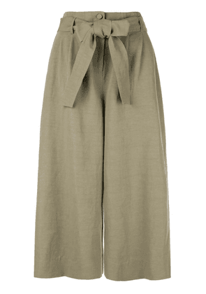 Co bow tie waist culottes - Green