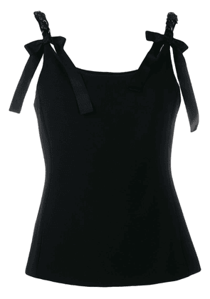 Boutique Moschino chain-embellished tank top - Black