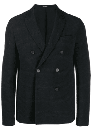 Emporio Armani casual double-breast blazer - Black