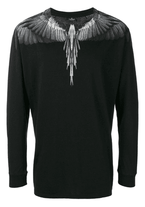Marcelo Burlon County Of Milan bird feathers knitted top - Black