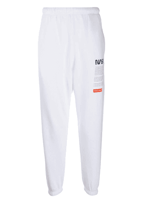 Heron Preston Nasa Facts sweatpants - White