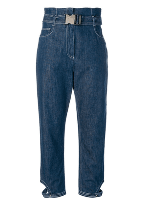 Fendi high-waist cropped jeans - Blue