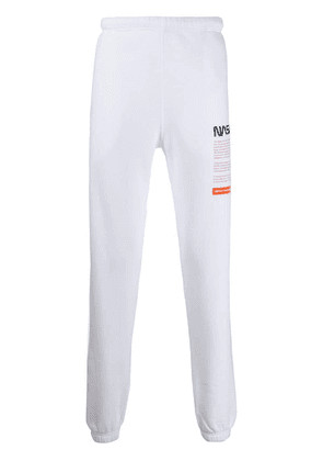 Heron Preston NASA embroidered track pants - White