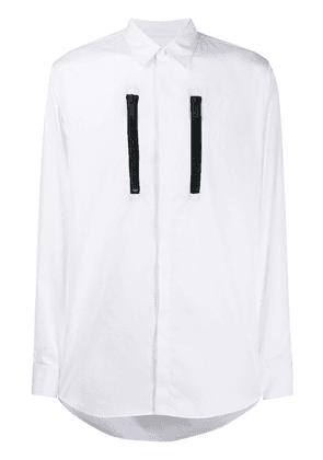 Dsquared2 zip detail button-up shirt - White