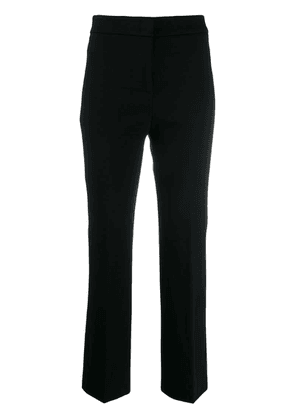 Peserico cropped straight-leg trousers - Black